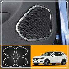 Car styling Per Volvo XC60 2018 Porta in acciaio inox Auto audio Degli Speaker audio anello di Copertura Trim sticker accessori Auto