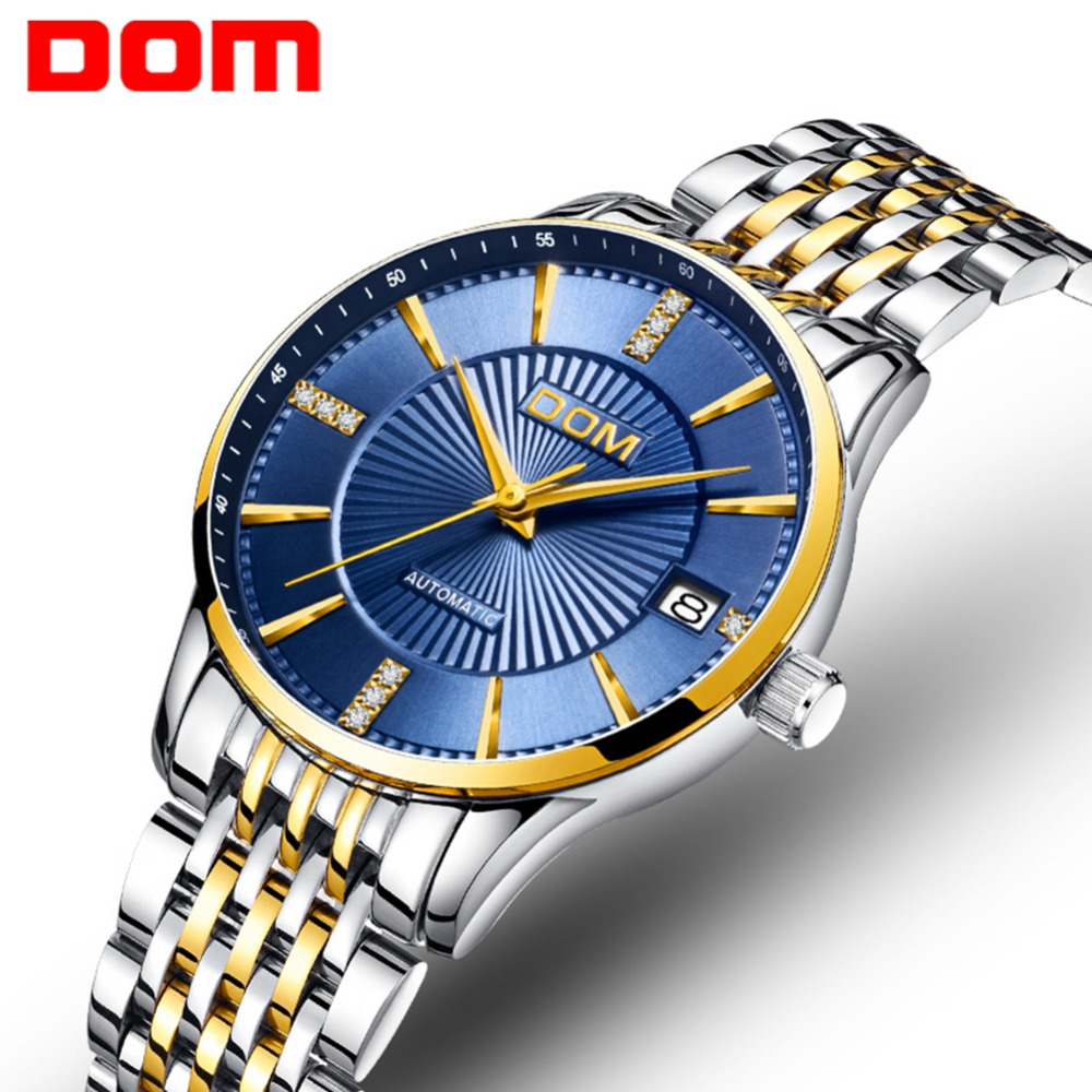 DOM Mechanical Watch Women Automatic Watches Female Business Clock Reloj Mujer Waterproof Lady Wristwatch Relogio Feminin