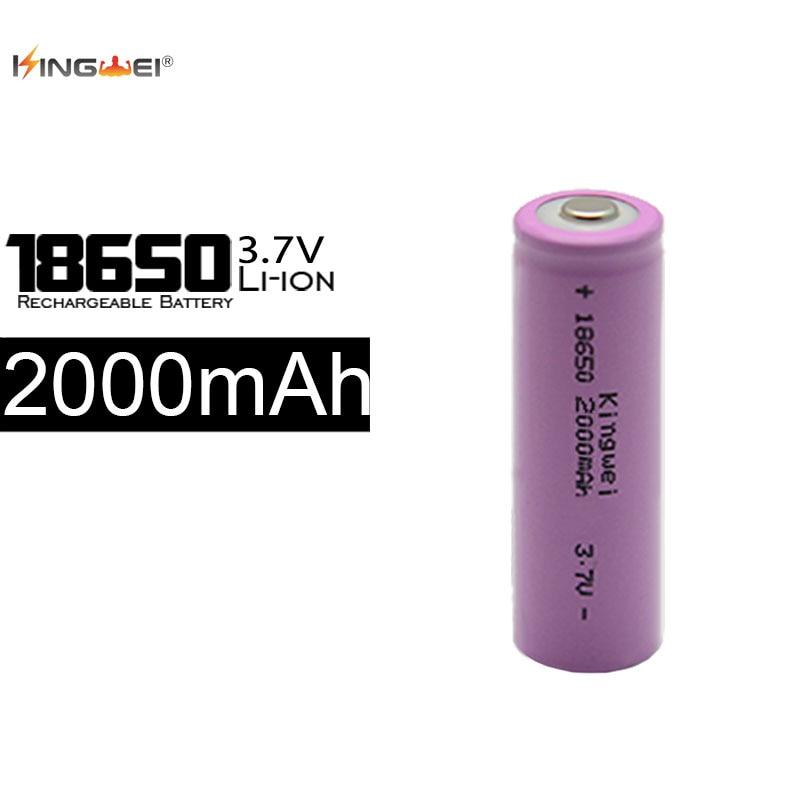 KingWei 100 Pcs/lot Batterie 18650 Au Lithium-Ion Rose 2000 mAh 3.7 v Batterie Rechargeable jusqu'à 500 fois