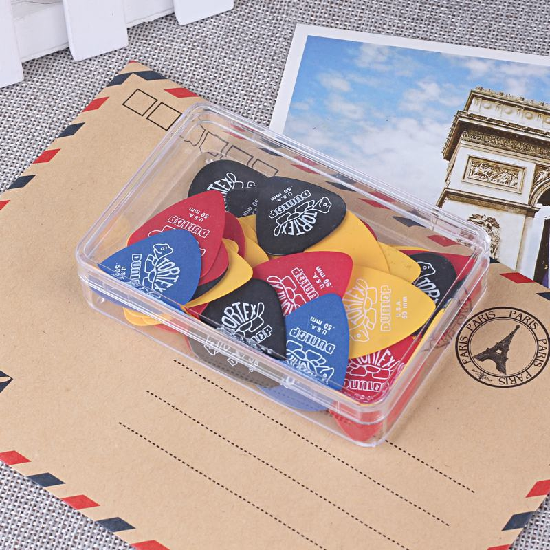 50 Pieces Dunlop Abs Guitar Picks Bass Mediator Acoustic Electric Accessories Classic Thickness 0.50mm With Box Case High Quality Girls' Clothing