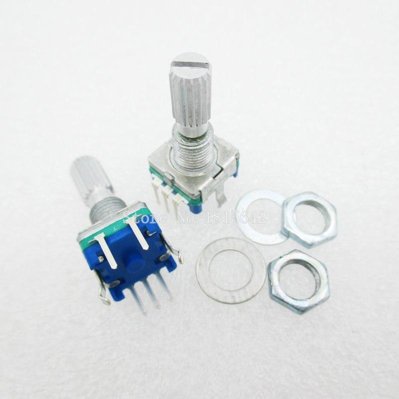 5 pièces prune poignée 20mm codeur rotatif commutateur de codage/EC11/potentiomètre numérique avec interrupteur 5 broches Q