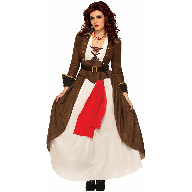 Sexy Steampunk Gothic Womens Pirate Costume Ladies Forum -1148