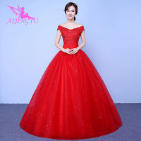 AIJINGYU dresses comunion weding plus size wedding dress WK823