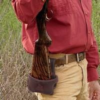 Tourbon Tactical Hunting Gun Accessories Gun Buttstock Shotgun Hip Holster Waist Belt Rifle Holder Genuine Leather