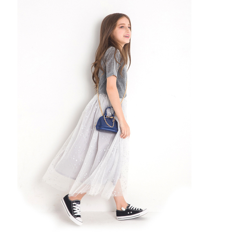 dcbbac059e3 Summer Girls Clothing Sets Princess Pettiskirt Flash Material Tops Stars  Pattern Skirt 2pcs Girl Clothes Outfits Set for Teens 9-in Clothing Sets  from ...