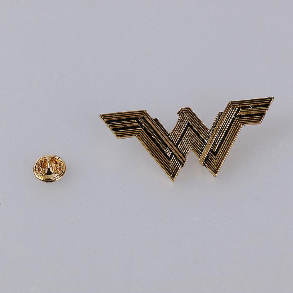 2017 Movie Wonder Woman Superhero Diana Prince Badge Metal Brooches Pin Halloween Carnival Cosplay Accessories Prop Adult Women