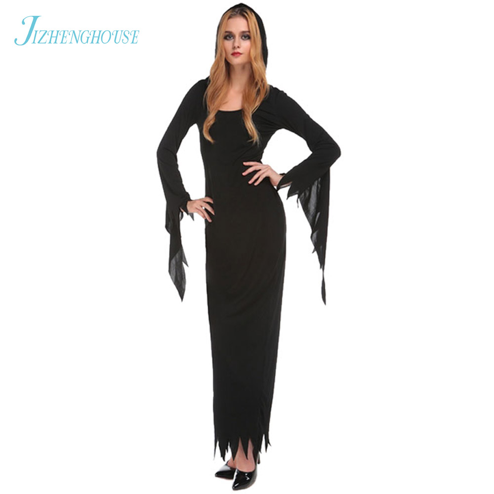 JIZHENGHOUSE Sexy Witch Costume Adult Womens Magic Costume Adult Witch Halloween Fancy Dress