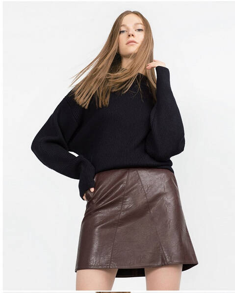 5ac1374d38e7 Hot sale 2019 New Fashion Spring and summer new high waist faux leather  women skirt pink