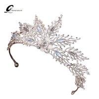 2017 sharp reine couronne diadème de mariage cheveux accessoires cristal tête bande de cheveux à la main bijoux tête décorations femmes casque