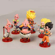 6 pçs/set Dragon Ball Z Majin Buu Saga Broly Toy Figura Super Saiyan Goku Broli Anime DBZ Tenkaichi Budokai Collectible brinquedo(China)