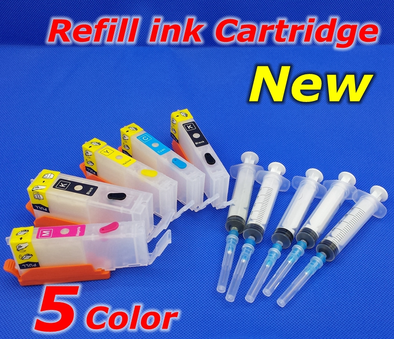 Чернильный картридж для принтера PIXMA MG5750, MG5751, MG5752, MG5753, MG6850, MG6851, MG6852, MG6853, PGI570, CLI571, 5 шт.