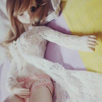 Athemis 65cm lalka mały rozmiar koronkowa sukienka biała z koronką piękny styl zestaw