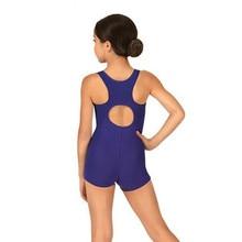 Girls Tank Shorty Unitard Ballet Dancewear Back Keyhole  Toddler Child Spandex Lycra Black Gymnastics Unitards Biketard