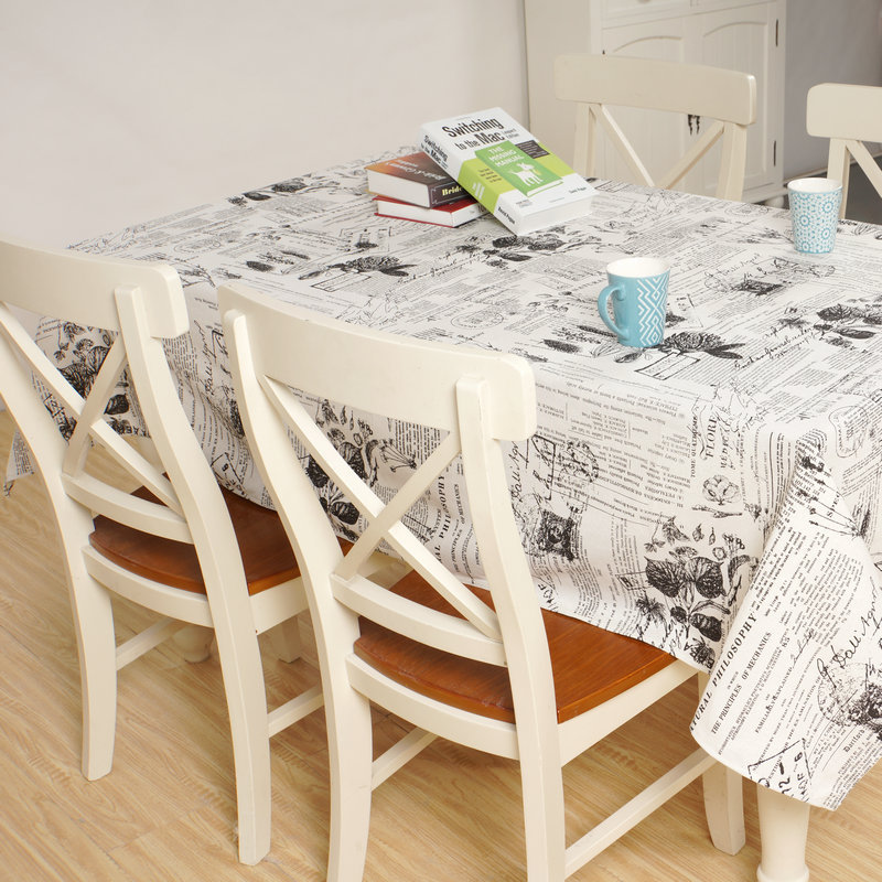 england style flowers postmarks table cloth cotton linen tablecloths beige dustproof tablecover for kitchen dinning table