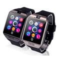 Suporte por telefone bluetooth smart watch para android sim/tf reloj inteligente relógio de pulso do esporte apoio do cartão sim da câmera pk dz09 gt08