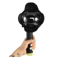 SHOOT 4 Inch Dome Port Lens Hood Cover With Floaty Grip For XiaoYi Yi 1st Waterproof