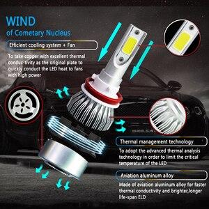 Image 3 - JAEHEV سيارة أضواء لمبات LED H4 H7 9003 HB2 H11 LED H1 H3 H8 H9 880 9005 9006 H13 9004 9007 السيارات المصابيح الأمامية 12 V مصباح ليد