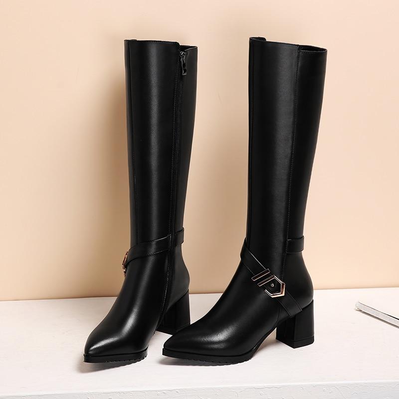 Lenksien estilo conciso de plataforma de cuñas patchwork Punta de encaje de las mujeres de cuero natural punk saliendo con zapatos casuales zapatos de L18 - 4