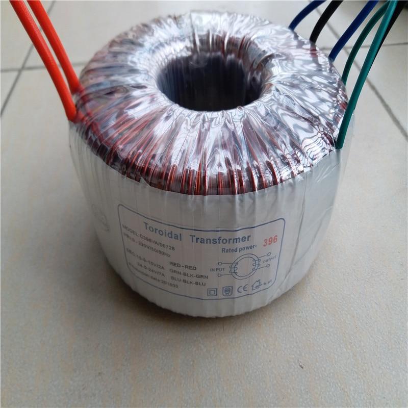 24V-0-24VAC 7A 15V-0-15VAC 2A Ring transformer 220V input copper custom toroidal transformer 396VA for power supply amplifier toroidal transformer ring copper custom transformer 54va toroidal output 12vac 0 12vac 12vac for 1969 power supply amplifier