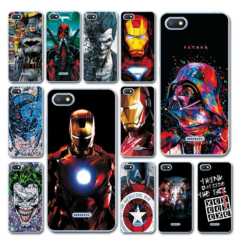 For Xiaomi Redmi 6A Silicone Case Cover On Redmi6A Bumper Novelty Captain America Phone Case Coque For Xiaomi Redmi 6A Redmi 6 A