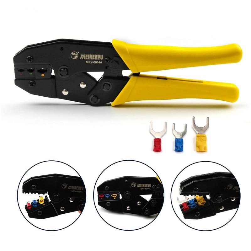 ZENHOSIT Terminals End Sleeve Ratcheting Crimp Pliers For 0.5mm2/2.5mm2/4.0mm2/6.0mm2 Cable Cutters Network Tools Crimper ratcheting crimp pliers for 0 5mm2 6 0mm2 awg 22 10 terminator wire cable cutters tools clamp locking terminals press crimper