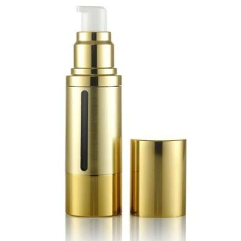 100 x 30ml Empty Gold Lotion Cream Airless Pump Cosmetic Bottle BB CC Cream Plastic Liquid Make up Cosmetics Container Packaging