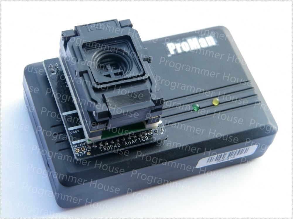 Free shipping 08MM BGA63 IC programmer adapterBGA63 to DIP48 IC Test Socket 9X 11mm NAND proman TL866 PLUS+105X135MM Matrix