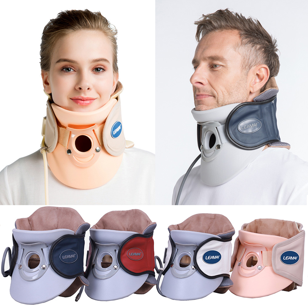 Inflatable Neck Cervical Support Traction Device Neck & Upper Back Pain Relief Collar Cervical Vertebra Tractor(China)