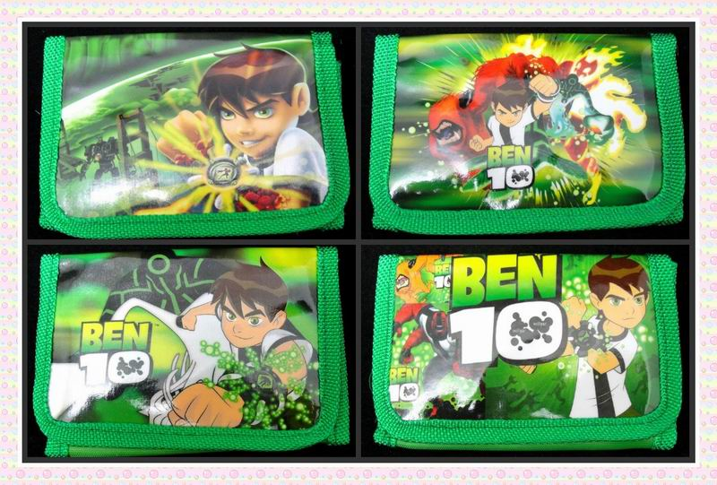 12Pcs Ben 10 Coin Purse Cute Kids Cartoon Wallet Bag Pouch Children Purse Small Wallet Party Birthday Gift