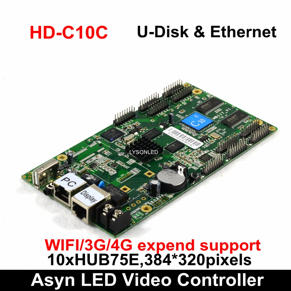 Huidu HD C15 C15C HD C35 Asynchronous Indoor Outdoor LED Video Display Controller Can add 3G