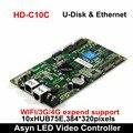 Huidu HD-C15 C15C HD-C35 асинхронный крытый и открытый светодиодный видео дисплей Контроллер может добавить 3g/4G/Wifi/Яркость/температура