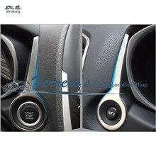 2 шт./лот, наклейки из нержавеющей стали для автомобиля, украшения крышки зажигания для 2012- Mitsubishi ASX
