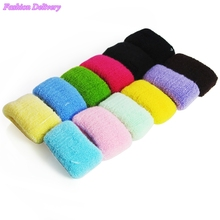 12pcs/lot Towel Hair Bands Fashionable High Quality High Elastic Hair Ropes Candy Color Lovely Fluffy Head Coil Headdress