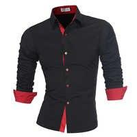 Männer Hemd Marke 2018 Männlichen Hochwertige Langarmshirts Casual Slim Fit Schwarz Mann Kleid Shirts Plus Größe 4XL