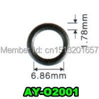 6.86*1.78mm 200 peças autopeças injector de combustível viton o anel selos para p eugeot (AY O2001)|fuel injector|fuel injector seal|fuel injector parts -