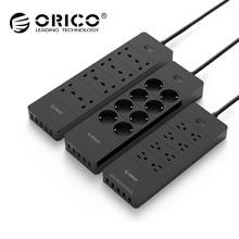 ORICO мощность розеток 8 выход с 5 USB Стандартный расширение стабилизатор напряжения мощность полосы 5×2. 4A USB зарядное устройство порты HPC-V1