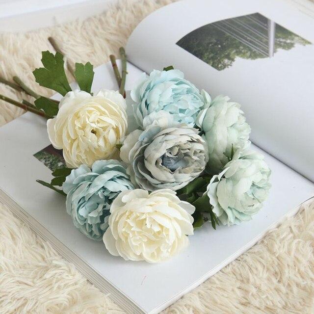 1 PC Bunga Mawar Buatan 7 Warna Teh Bunga Mawar Plastik Batang Sutra Bunga  Daun Rumah 0dbadb5ae3