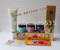 Frete Grátis conjuntos ABCCleanser Yan Wo Su YanWoSu bailitouhong Conjunto de Cuidados Da Pele Creme de Clareamento Hidratante Feminino