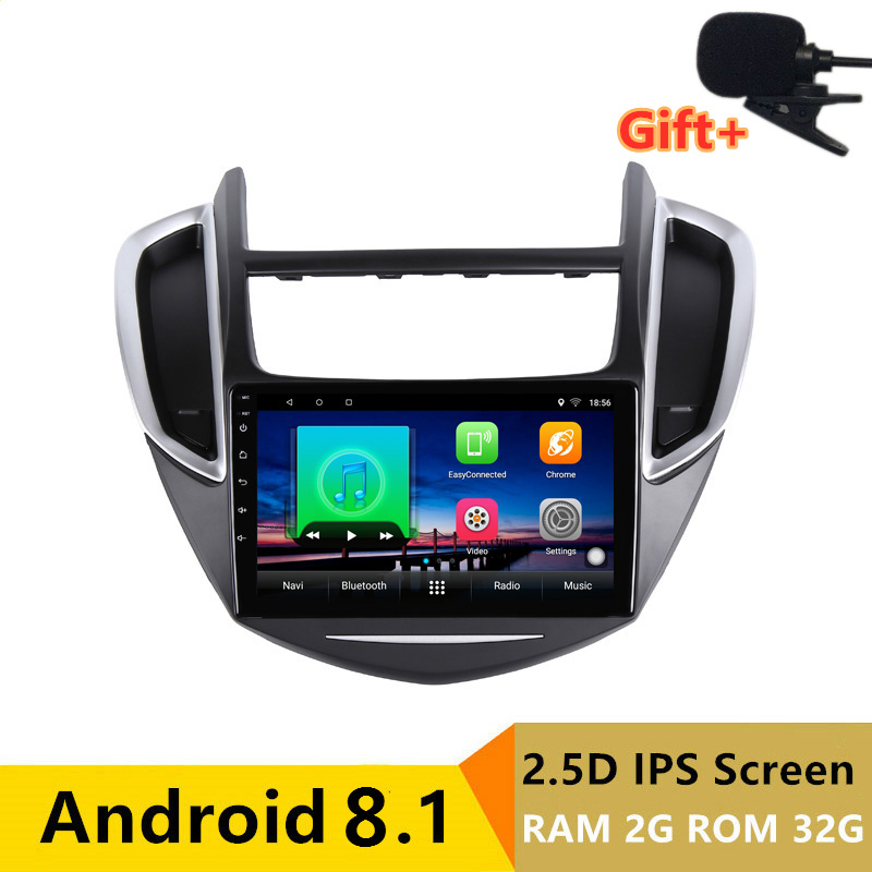 "9"" 2+32G 2.5D IPS Android 8.1 Car DVD Multimedia Player GPS for Chevrolet TRAX 2013 2014 2015 audio radio stereo navigation"
