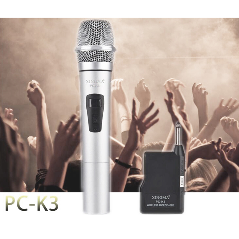 XINGMA PC-K3 Wireless Microphone Professional Dynamic VHF Metal Handheld Mic For Karaoke Computer PC Singing KTV