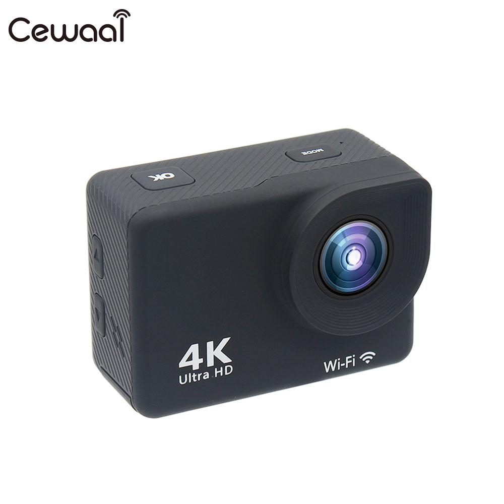 Cewaal WIFI 4K 30FPS Video Recorder Ultra 4K FULL HD 1080P Action Camera Waterproof Ultra 4K FULL HD 1080P Sports DV Camera цена