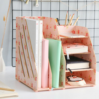 Creative bookends multifunctional desktop storage box creative drawer student desk file storage box rack