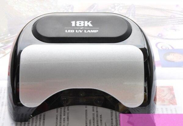 Free Shipping Genuine 110V - 240V 18K LED Nail Dryer Quick Dry EU/US Plug with Timer, Sensor, Voltage Adapter цена и фото