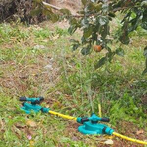 Image 3 - Товары для улучшения удобные и практичные садовые разбрызгиватели автоматический полив травы газон 360 градусов полностью 3 сопла круг