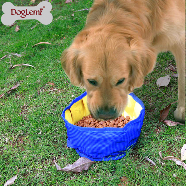 Bowl for Pets Dogs Cats Zipper Design Portable Pet Dog Collapsible Foldable Bowl Travel Camping Food Water Feeder Bowl With Hook