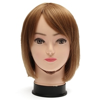 Female Training Silicone Mannequin PVC Manikin Head Model Wig Hair Glasses Hat Display Make Up Face