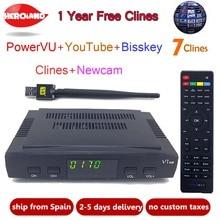 Hero Iand lSatellite TV Receiver decoderlianxin09  Europe Cline account support powervuHD DVB-S2+USB Wifi Receptor with 7 lines