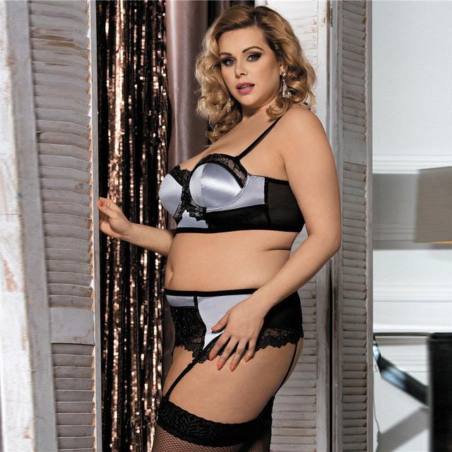 MILLYN Super quality European American lingerie underwear bra set steel holders three point Lace Garter Set 80093