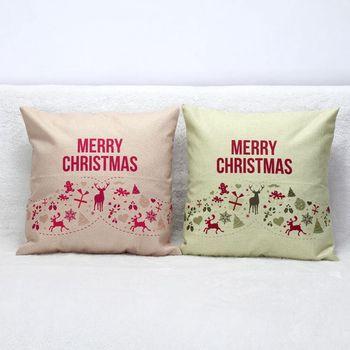Buon Natale cuscino senza inserto americano divano decorativo tiro cuscino ufficio divano cuscino vintage retro