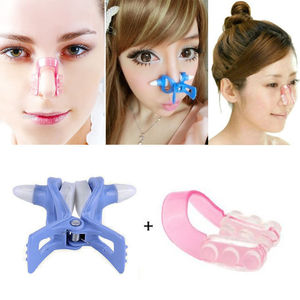 2Pcs Massager Care Nose Up Shaping Shaper Lifting + Bridge Straightening Beauty Clip Beauty Care Nose Up Tools Drop Shipping